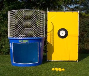 Dunk Tank with Yellow Back Stop