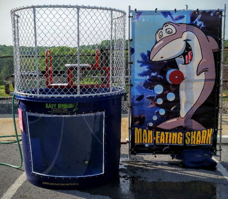 Dunk Tank with Window and Shark Backstop