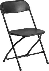 Black Poly Chairs