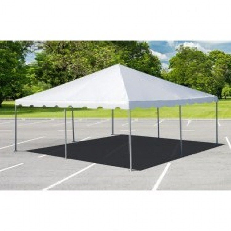20' x 20' Frame Tent on Grass with Stakes
